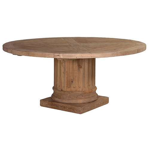 Corinthian Column Round Table (Reclaimed Timber)