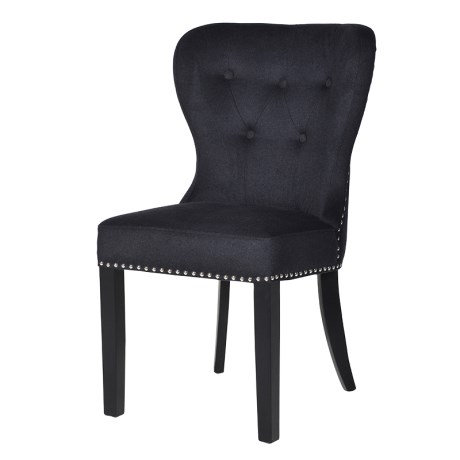 Coco Noir Black Button Back Dining Chair