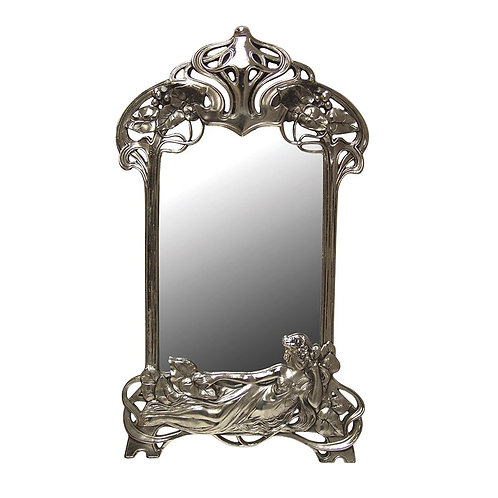 Art Nouveau Mirrored Frame
