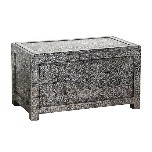 Silver Embossed Blanket Box