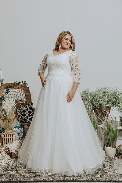 Sedinum Bridal Brautkleid Alinie mit Ärmel