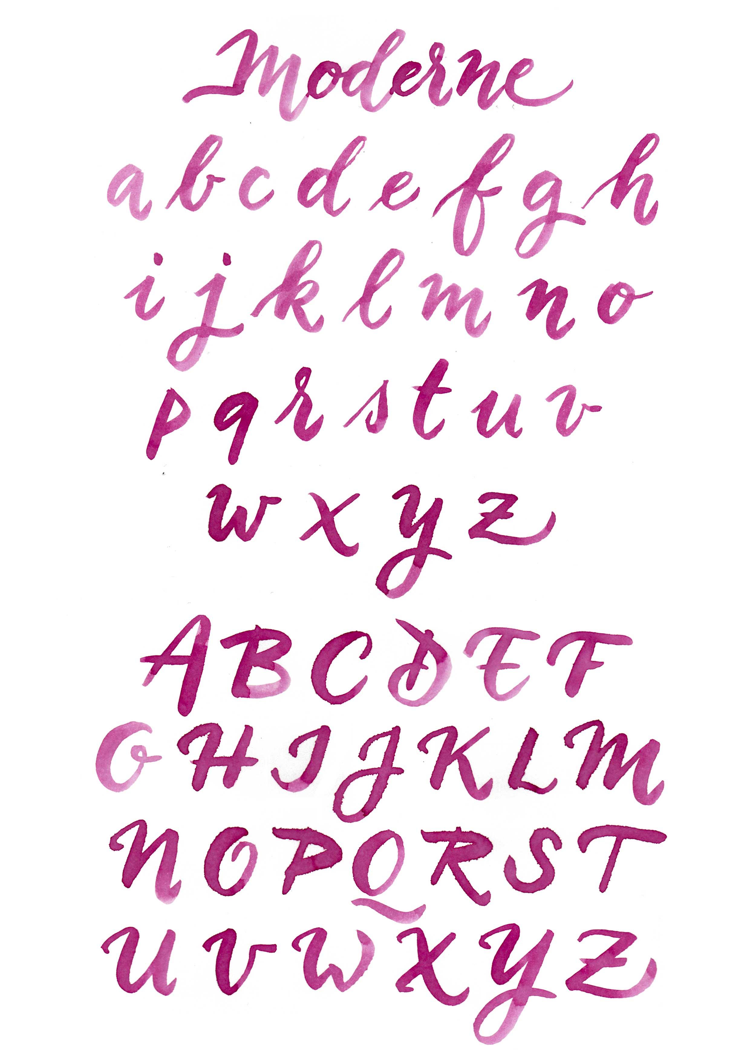 "Alphabet ""moderne"""