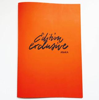 """Création de calligraphies numérisée pour la belle brochure """"ANAKA"""""""