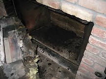 Fireplace soot