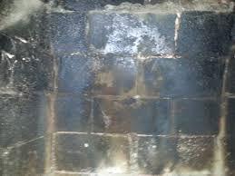 Damaged fireplace