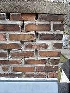Loose bricks in fireplace