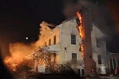 home burning due to fireplace