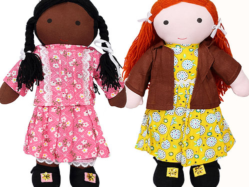 Puppen Safa und Marwa