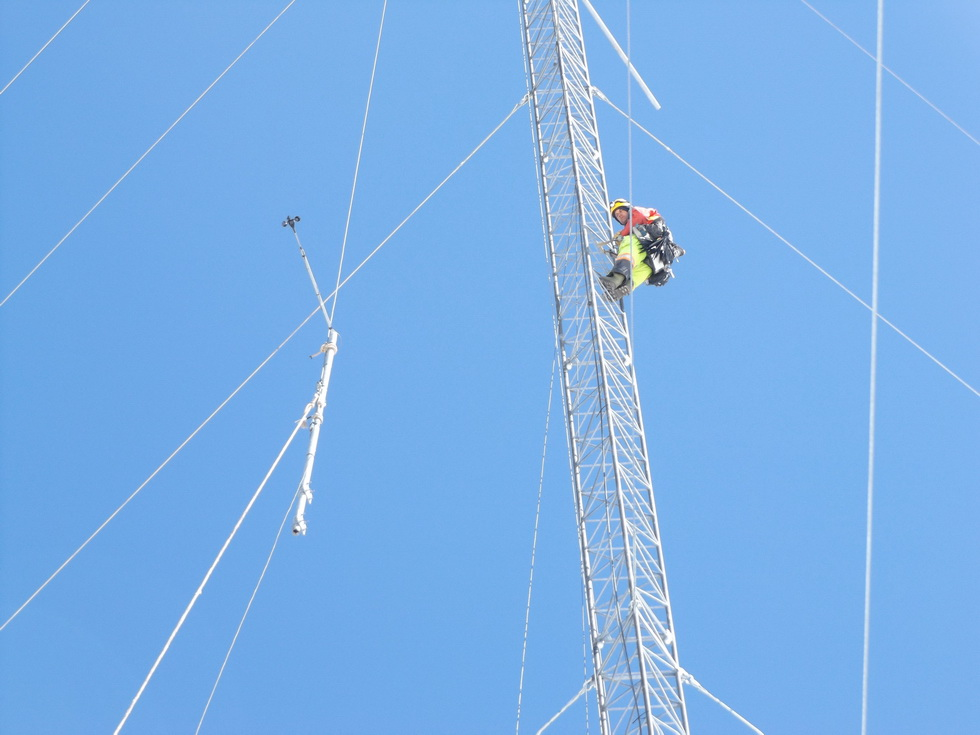 Lattice Tower Boom Installation