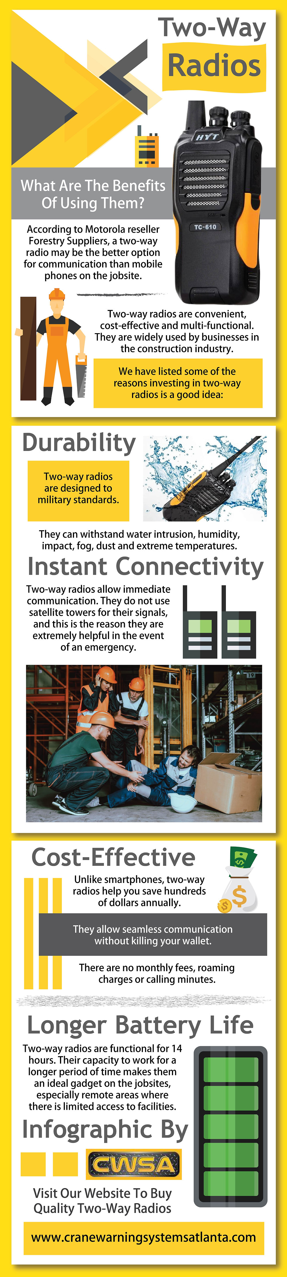 What are the benefits of using Two-Way Radios
