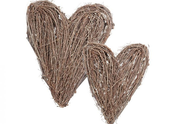 Natural Twig Heart