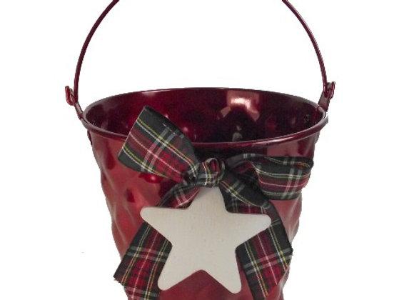 Red Tartan Bucket