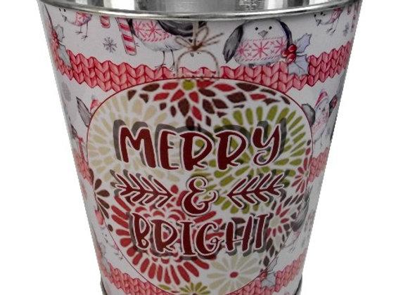 Merry & Bright Metal Pot