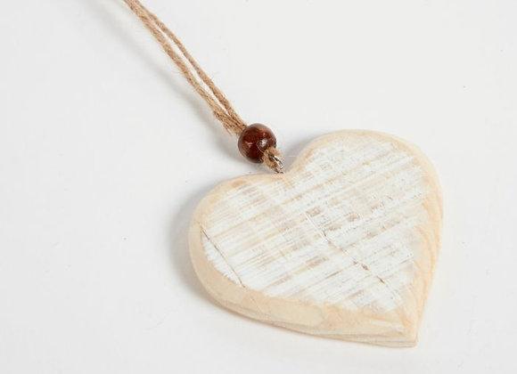 Wooden Heart Hanger - Pack of 4