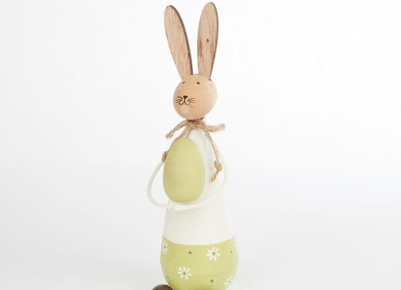 Standing Rabbit with egg - Green