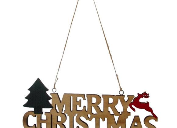 Wooden Merry Christmas Hanger