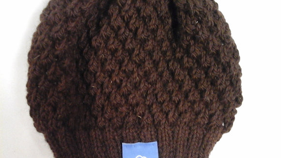 Knitted Seed Stitch Hats