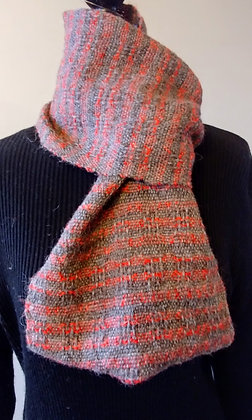 Infinity Scarf Charcoal and Red