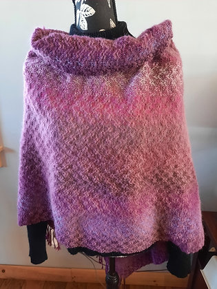 J121 Poncho Purples and pinks