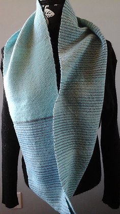 Infinity Scarf Teal and charcoal