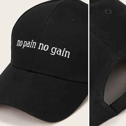No pain, no gain cap