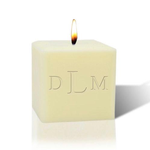 "Eco-Luxury 3"" Soy Wax Candle: Monogrammed"