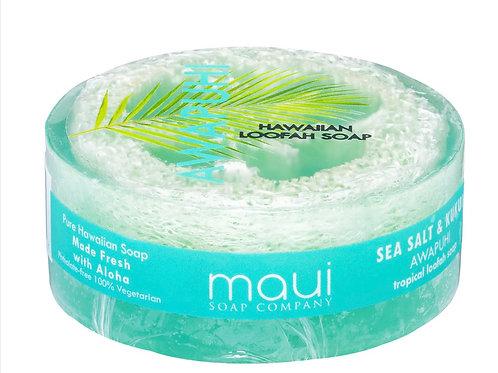 Awapuhi Sea Salt & Kukui Exfoliating Loofah