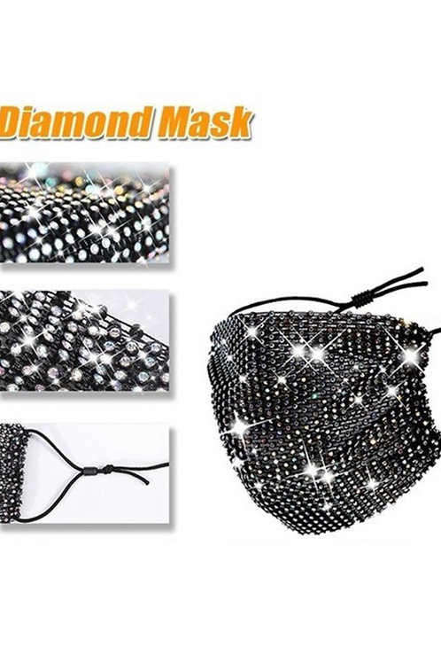 SEQUIN FACE MASK (BLACK)