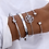Thumbnail: Boho Jewelry Charm Bracelets for Women Charms Bracelets Set Gifts