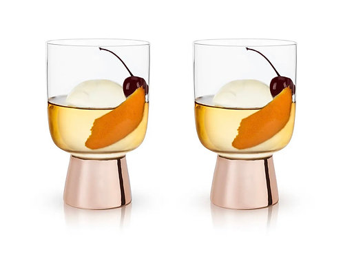 Copper Footed Tumblers