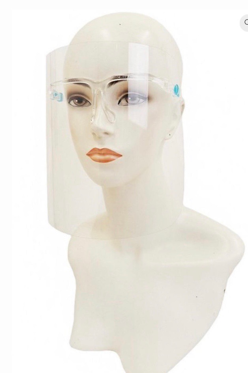 Clear & Safe w/ (blk) elastic polyester mask