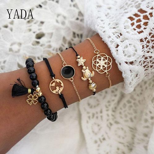 Bracelets & Bangles for Women Tassel Bracelets Charm Crystal Jewelry Bracelet