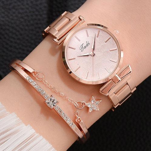 Women Quartz Analog Wrist Small Watch Luxury Casual Bracelet  Fashion Watch