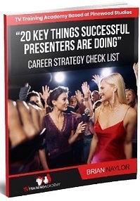 How to become a TV Presenter checklist