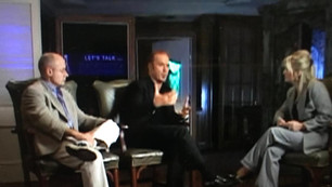 Interviewing Michael Keaton and Paul Brooks at the Beverly Wilshire Hotel, Beverly Hills