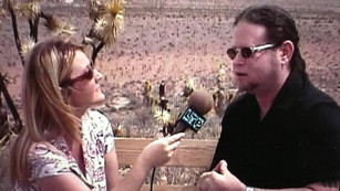 Interviewing on location - Red Rocks, Las Vegas