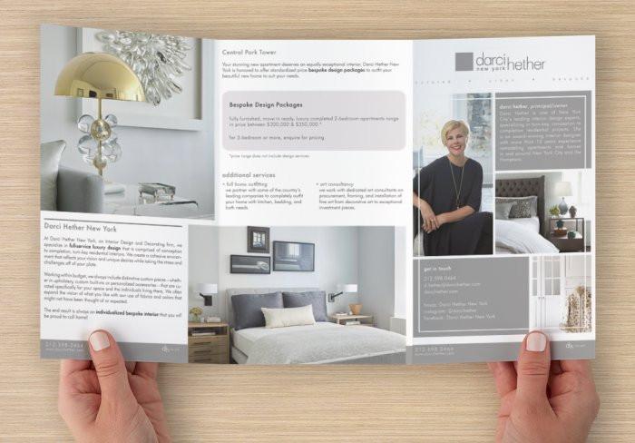 Z-fold brochure print preview