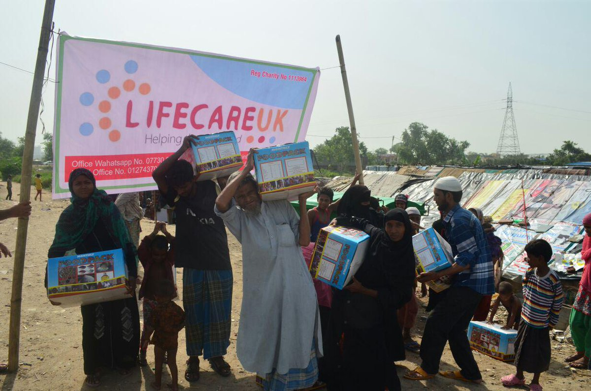 Distribution of aid