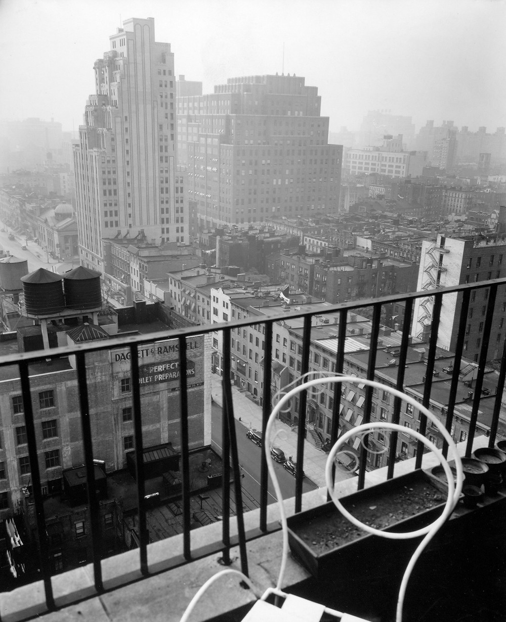 View from the Penthouse of 56 Seventh Avenue in Manhattan, 1937