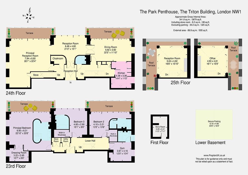 The Park Penthouse, The Triton Building,