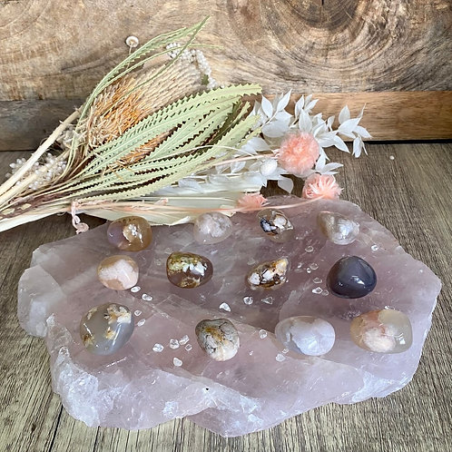 Flower Agate Tumblers (Intuitively Chosen)