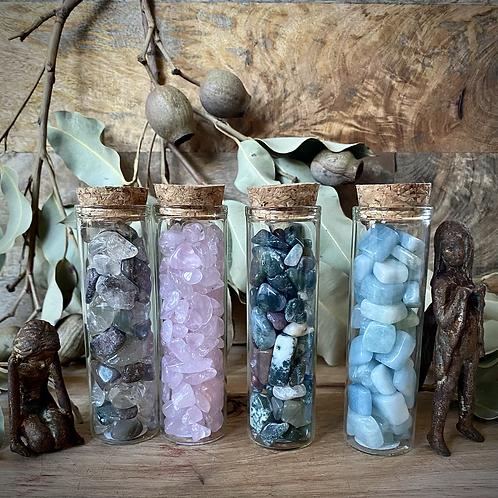 Crystal Chips (Rose Quartz, Aquamarine, Garden Quartz & Moss Agate)