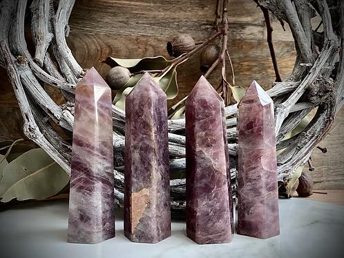 Lavender Rose Quartz Points
