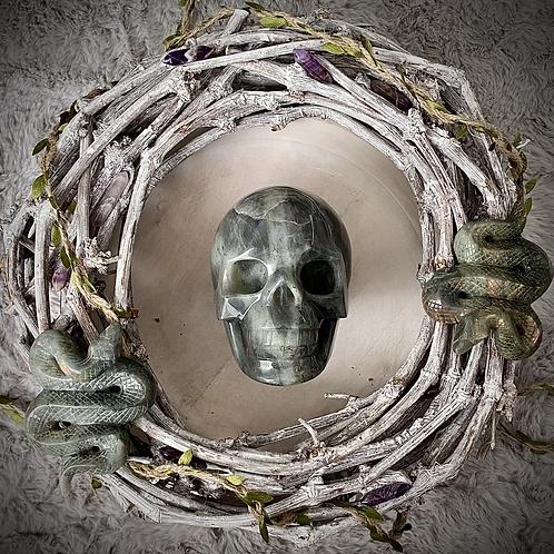 Large Labradorite Purple Skull (1.8kg)