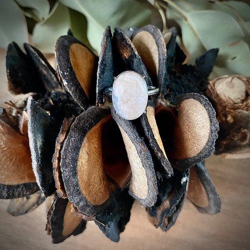 Flower Agate Ring