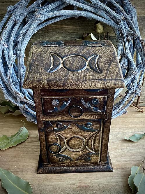 Triple Moon Herb Box