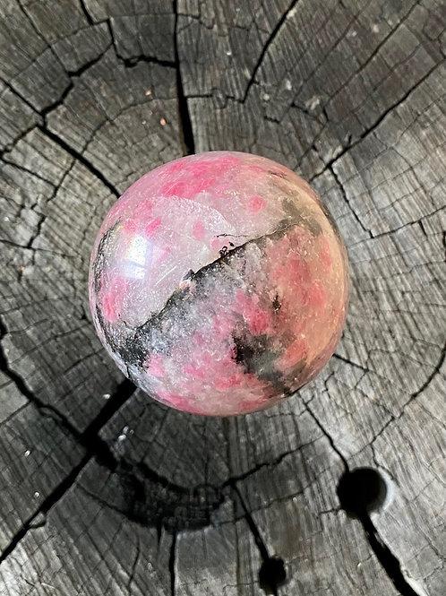 Pink & Black Tourmaline Sphere 400g