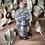 Thumbnail: Glass Bottle Skull with Crystal Chips (Rose -Obsidian-Rutilated Quartz)