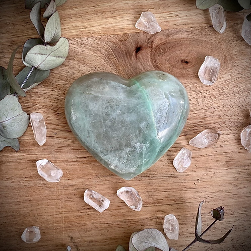 Green Moonstone Heart