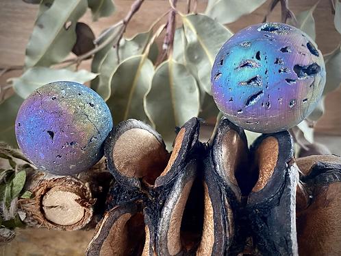 Titanium Druzy Sphere